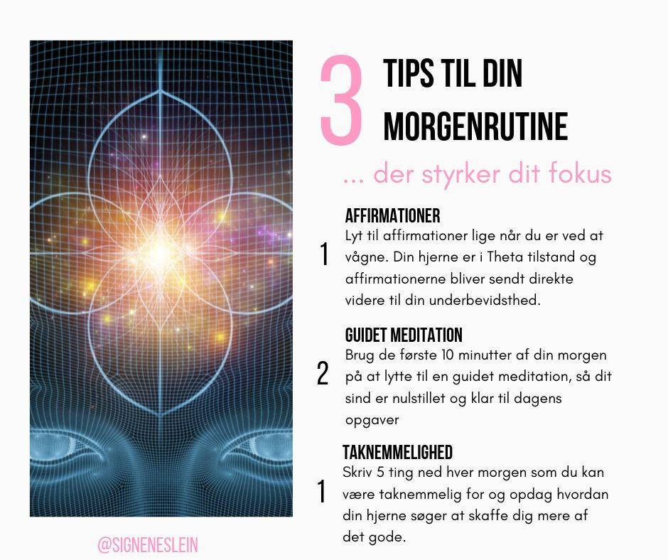 3 tips til din morgenrutine